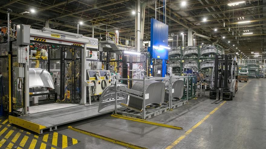 Vista de la planta de producción de la planta de Opel en la localidad de Figueruelas.