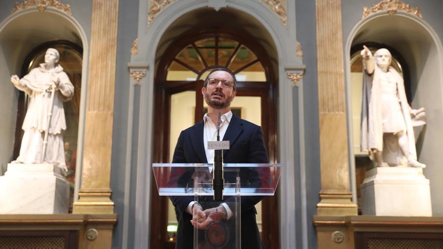 """Maroto avisa de que Sánchez prepara un """"indulto oculto"""" a Junqueras al rebajar penas por sedición en el Código Penal"""