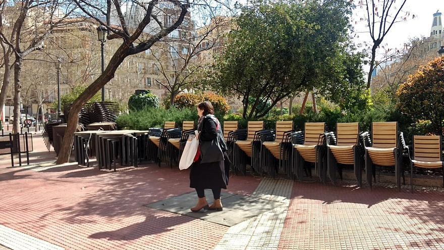 Terraza recogida en la Plaza de Olavide | SOMOS CHAMBERÍ