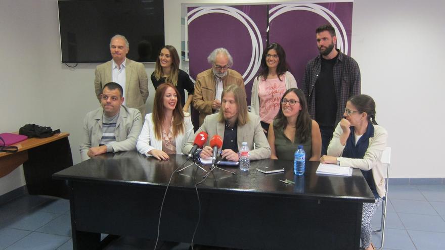 """Pablo Fernández presenta la nueva ejecutiva de Podemos CyL que conformará la """"auténtica"""" oposición en la Comunidad"""
