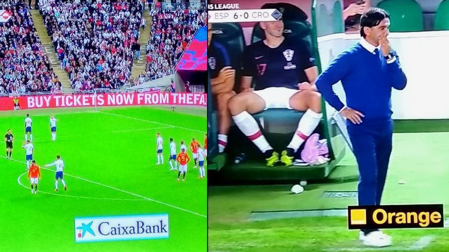Publicidad de TVE durante los partidos de España