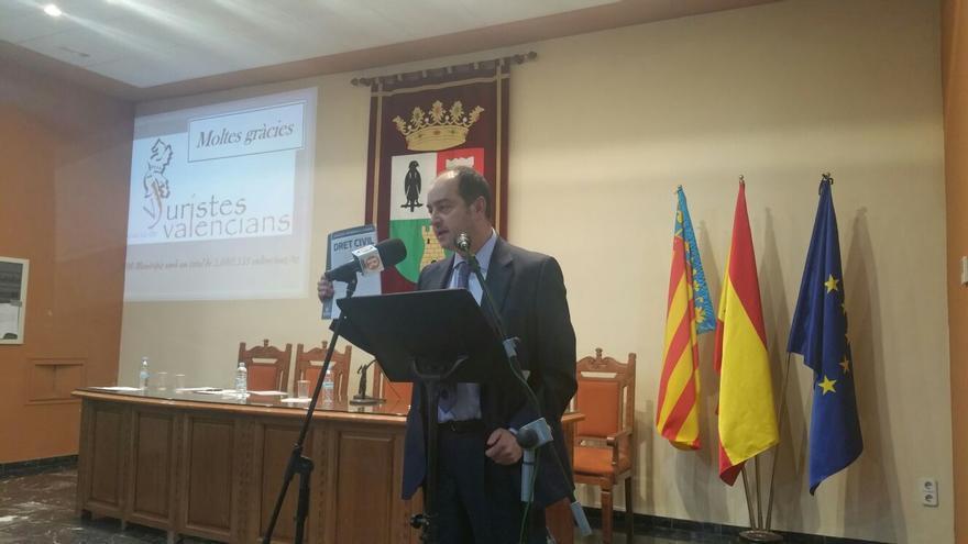 José Ramón Chirivella, presidente de la Associació de Juristes Valencians