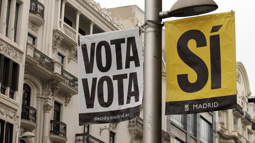La campaña del Ayuntamiento de Madrid para animar al voto.