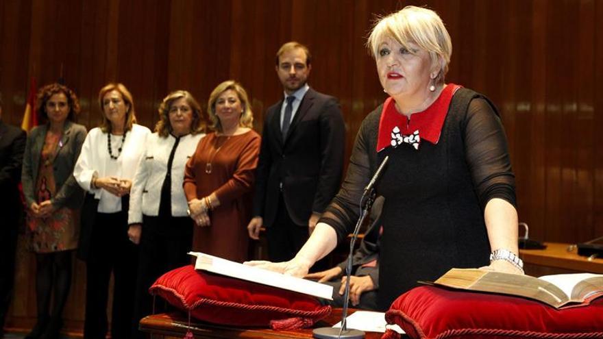 Carmen Balfagón, durante su toma de posesión como directora general del IMSERSO.