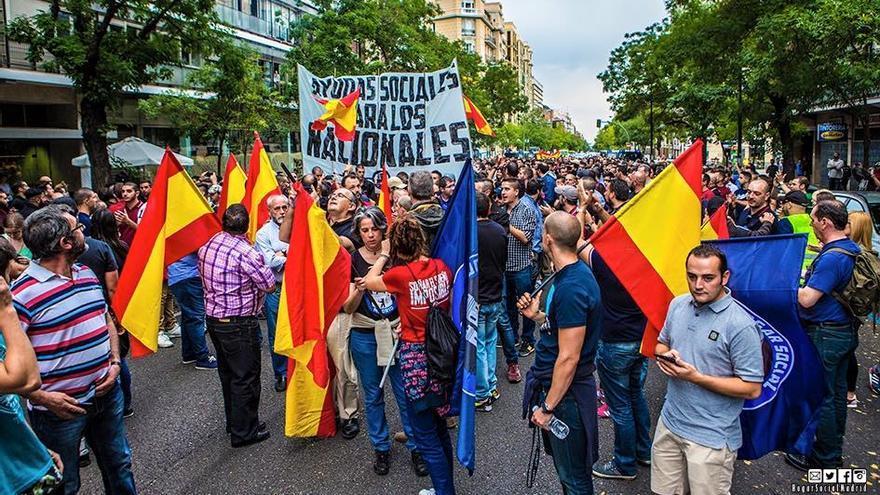 Integrantes de Hogar Social Madrid en una manifestación en Septiembre del año pasado. Foto: Facebook