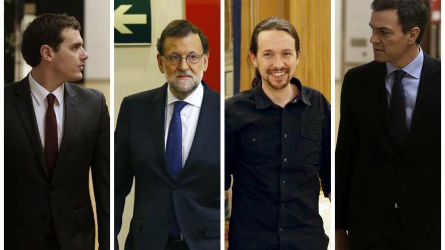Rivera, Rajoy, Iglesias y Sánchez