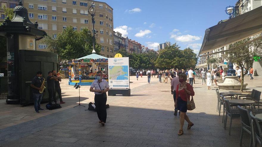 Plaza Juan Carlos I, en Santander.