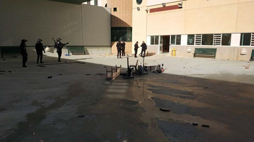 Imagen del interior de la cárcel de Archidona tras la protesta del 13 de diciembre | eldiario.es/Andalucía