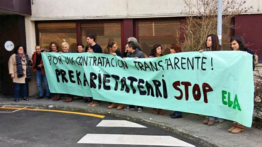 Una protesta de ELA contra la precariedad. Foto: ELA