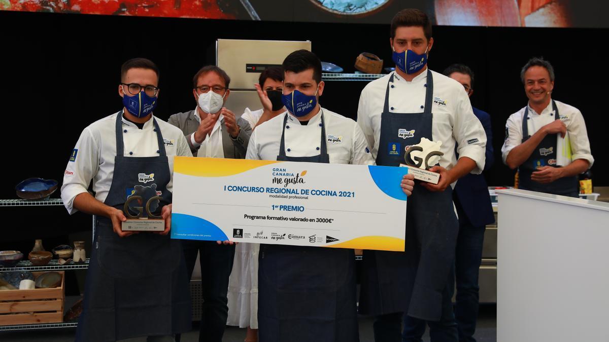 Ganador  y finalistas del I Concurso Regional de Cocina 2021