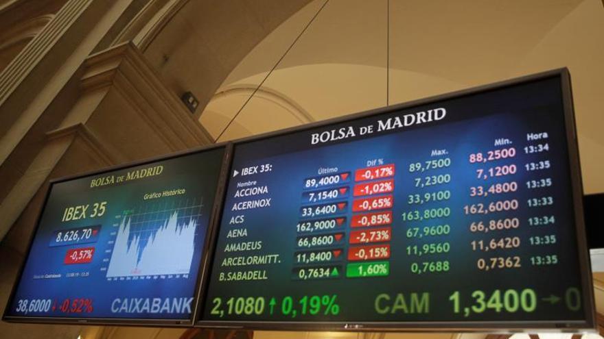 La Bolsa española incurre en pérdidas anuales con una caída del 1,98 %