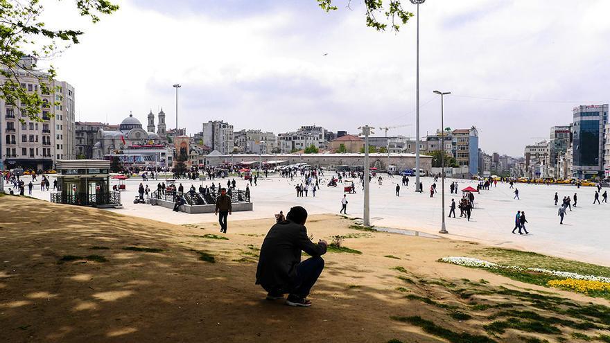 Plaça Taksim, a la part europea d'Istanbul