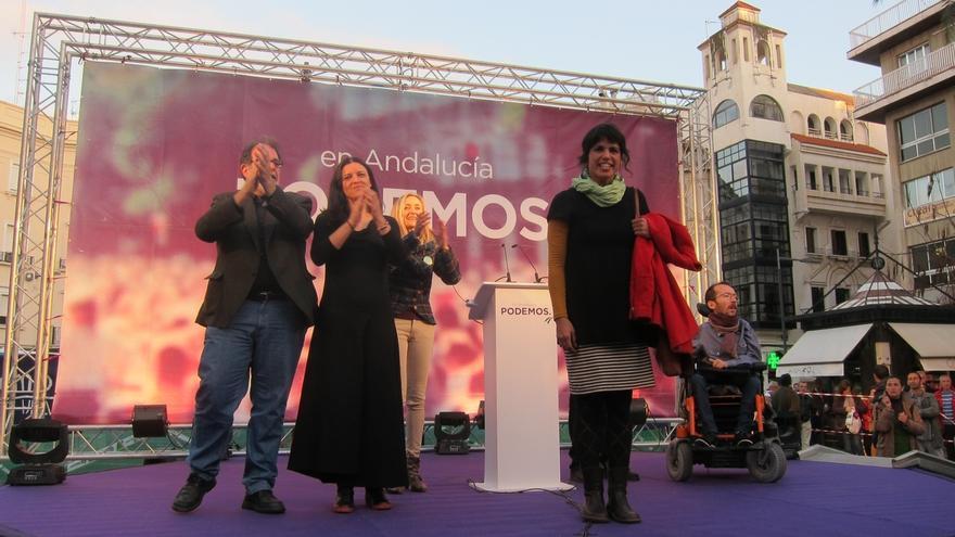 """Rodríguez (Podemos) pide a la ciudadanía que """"dé un paso al frente para hacer política"""" y se dé """"el cambio"""""""
