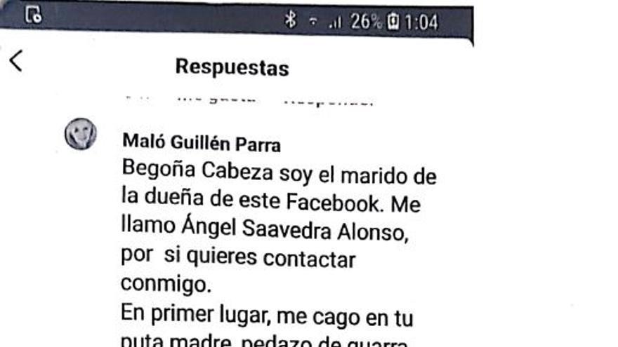"""Teniente coronel que amenazó a una mujer con """"mandar a unos cuantos"""" a violarla dice que la autora es su mujer"""