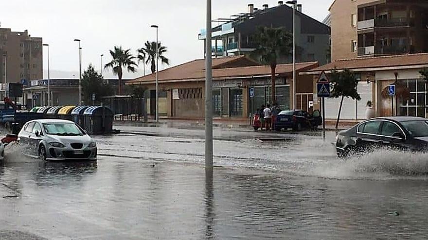 Efectos de la lluvia torrencial en Dénia, la Marina Alta