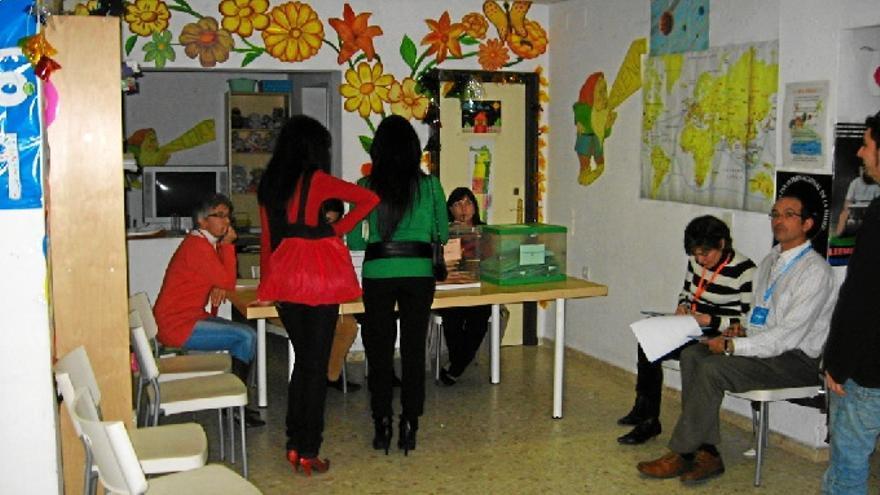 Un colegio electoral en la jornada del pasado domingo.