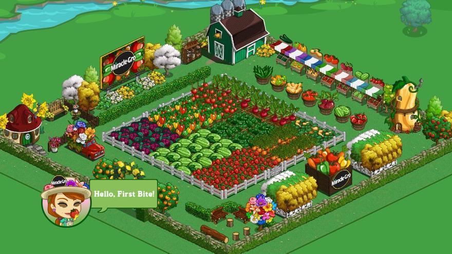 Farmville, una app social en la que a medida que se avanza en el juego, se hace necesario pagar para ahorrar tiempos de espera y comprar objetos de mejora