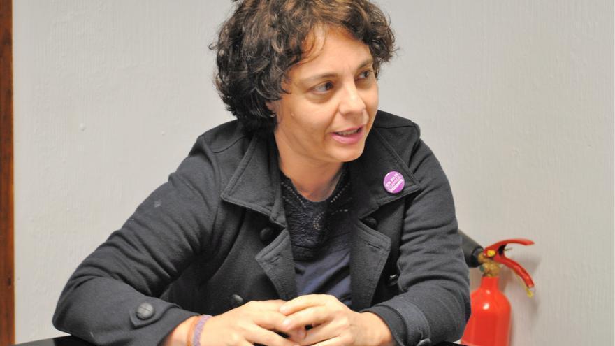 La candidata de Podemos al Congreso por Toledo, Gloria Elizo