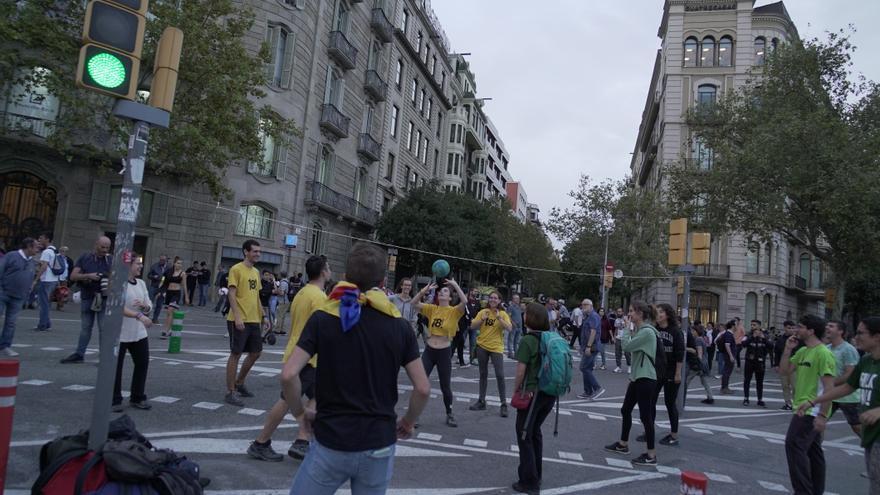 Manifestación en la capital catalana durante la tarde del jueves