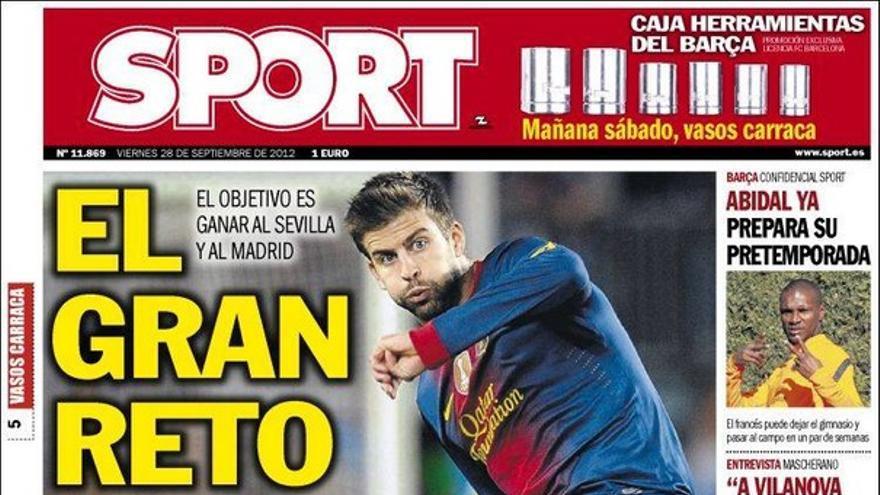 De las portadas del día (29/09/2012) #13