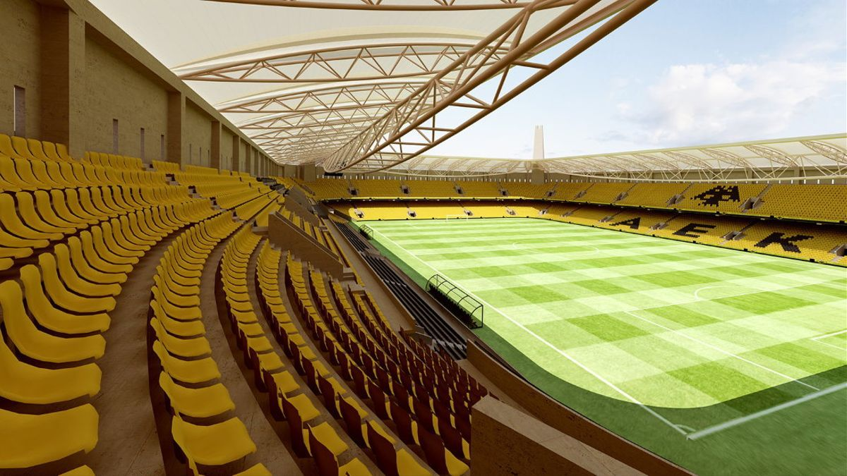 Futuro estadio del AEK de Atenas