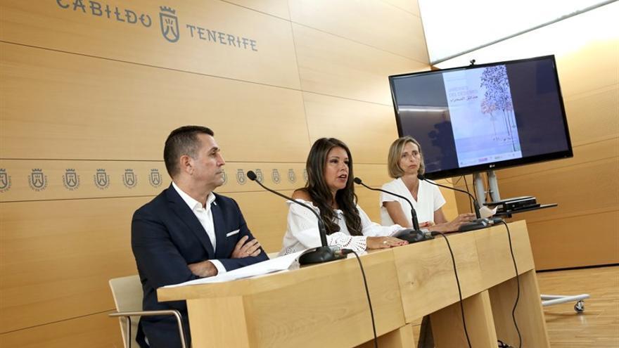 Presentación de la muestra, este lunes en el Cabildo, entidad que colabora