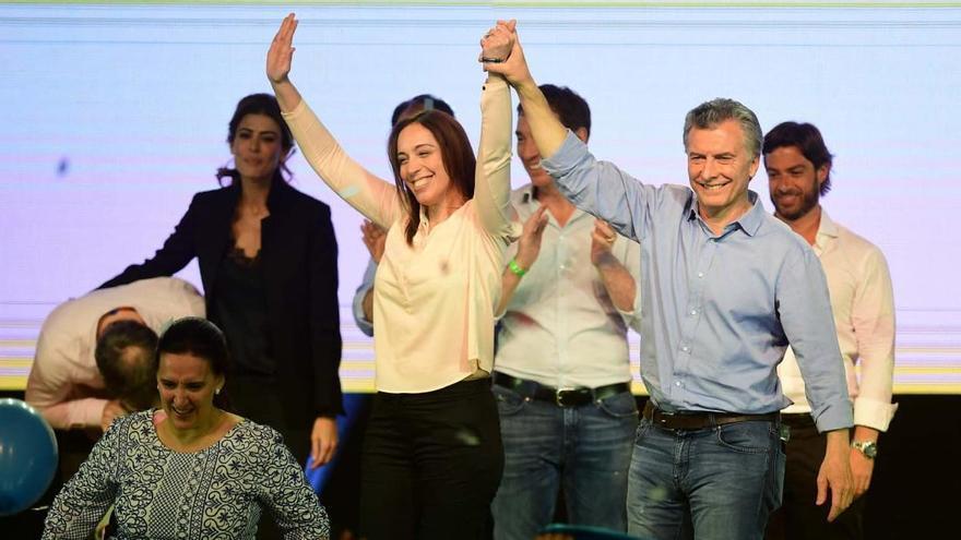 Macri y Vidal, en el cierre de campaña de las legislativas de 2017 en la provincia de Buenos Aires.