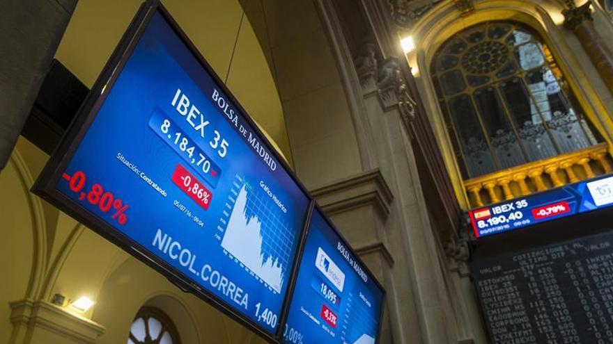 El IBEX 35 se deja un 1,23 % y pone en peligro el nivel de los 8.100 puntos