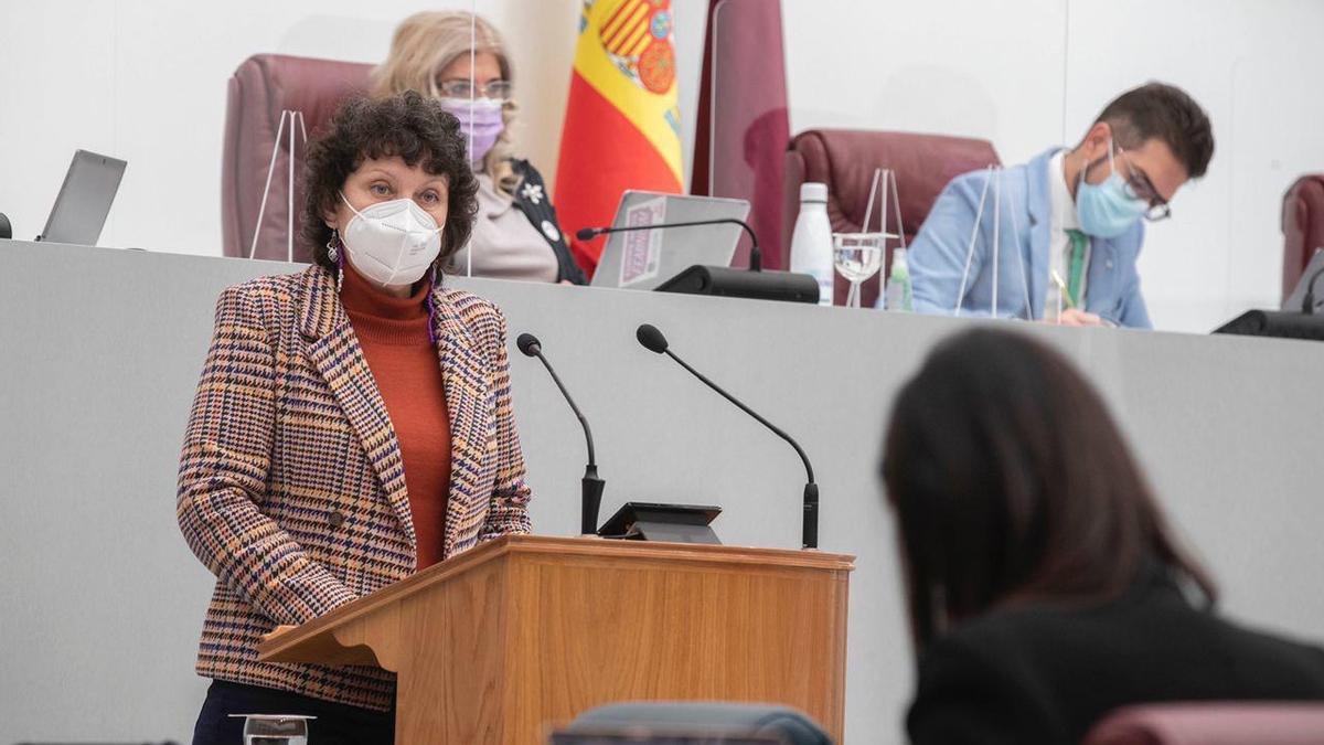 La portavoz de Podemos en la Región de Murcia, María Marín