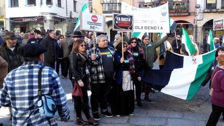 Protesta en Plasencia / Milana Bonita