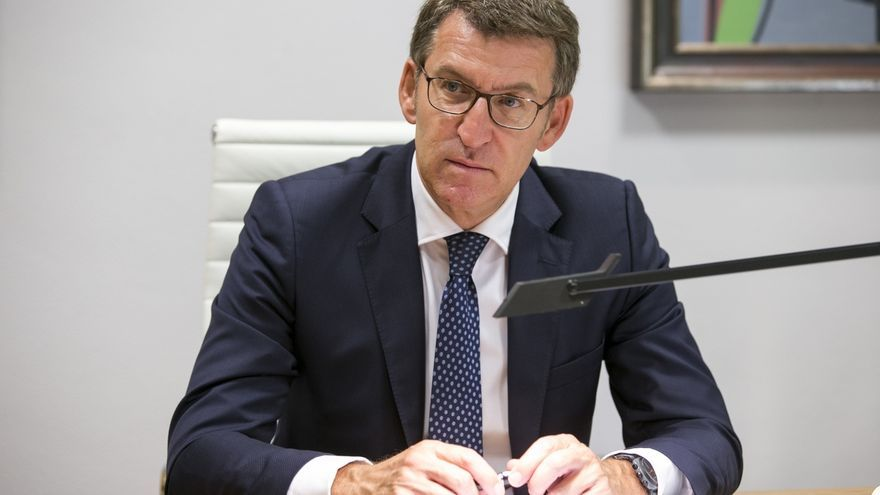 """Feijóo reivindica la Constitución y el Estatuto de Galicia para """"actuar sin menoscabar la unidad del país"""""""