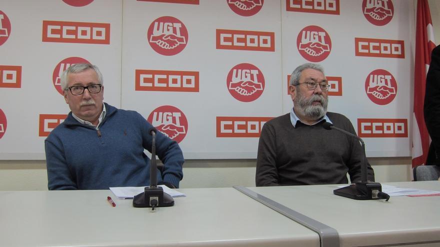 Toxo y Méndez avisan de que este año podría no haber pacto salarial si no se alcanza esta semana