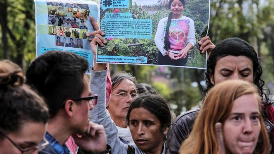 Protestas de indígenas en Ecuador contra la aprobación de varias leyes, como la de tierras, sin que haya una socialización con los grupos campesinos.