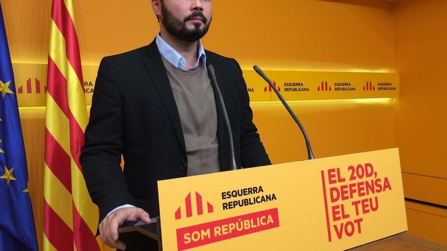 """Rufián (ERC) insta a la CUP a hacer presidente a Mas para comprobar que """"va en serio"""""""