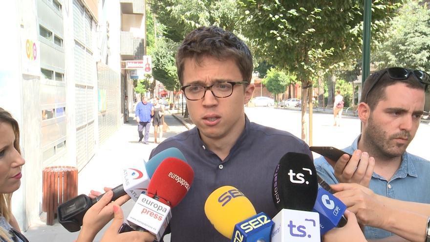 """Errejón (Podemos) dice que Rajoy está haciendo que el 1-O sea una """"movilización masiva"""""""
