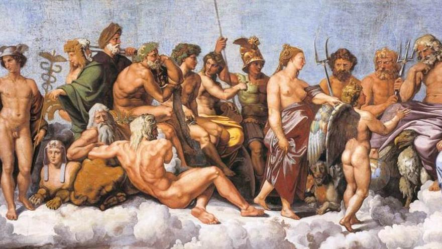 """Rafael, """"La asamblea de los dioses"""""""