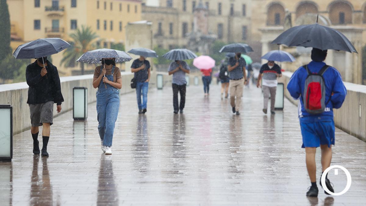 Puente Romano mojado este martes