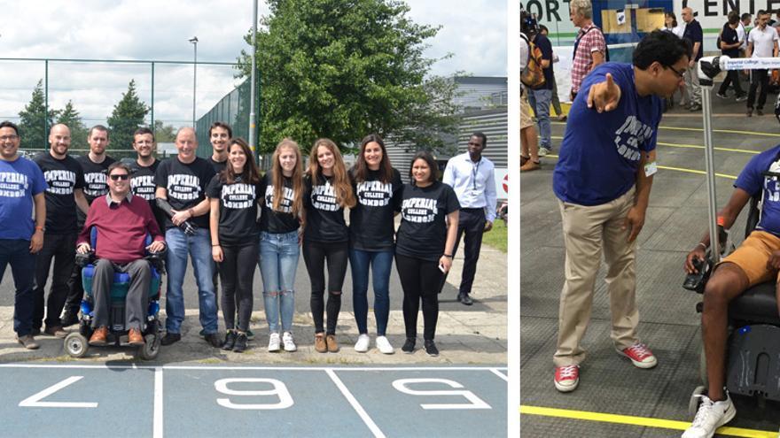 Estudiantes y profesores componen el equipo del Imperial College de Londres, que se presenta en tres categorías al Cybathlon