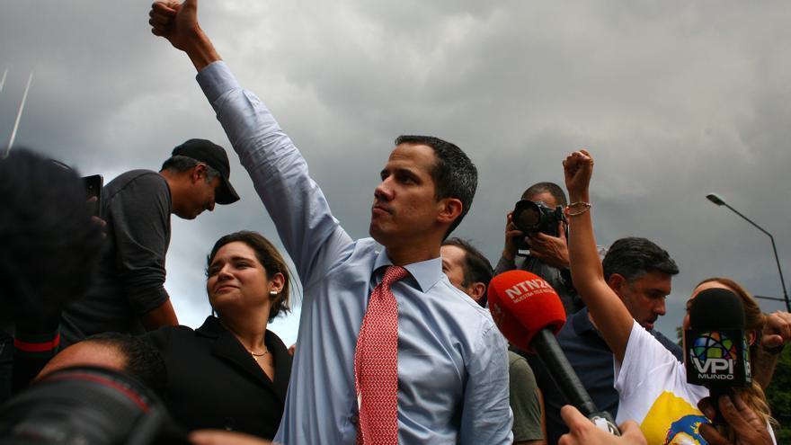 Juan Guaidó en un acto en Venezuela.