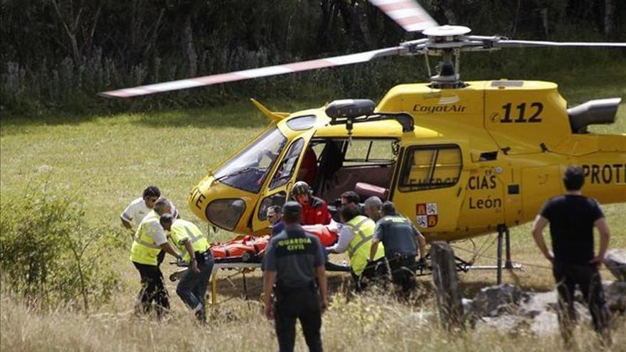 Helicóptero del rescate de Castilla y León.