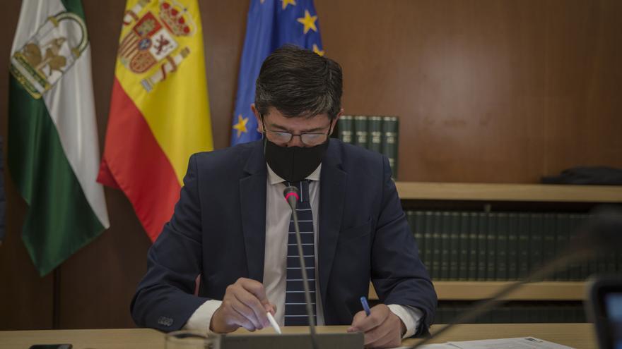 Juan Marín, este lunes en Sevilla