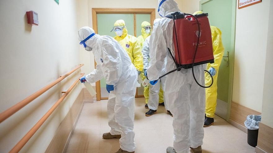 La UME desinfectará 28 centros de salud de Cantabria