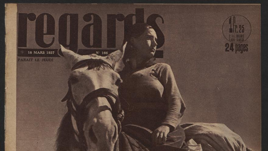 Portada de la revista 'Regards' con foto de Gerda Taro.