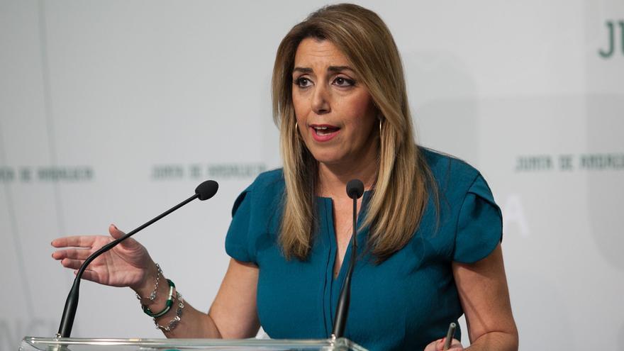 """Susana Díaz replica a quienes están con """"amenazas"""" que los andaluces esperan que """"hablemos de ellos"""" en la campaña"""