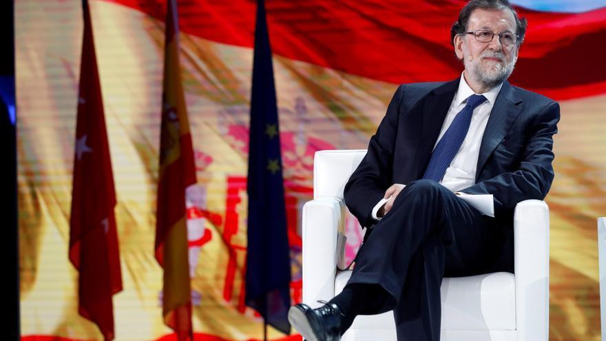El expresidente del Gobierno, Mariano Rajoy, durante su intervención en la Convención Nacional del PP.