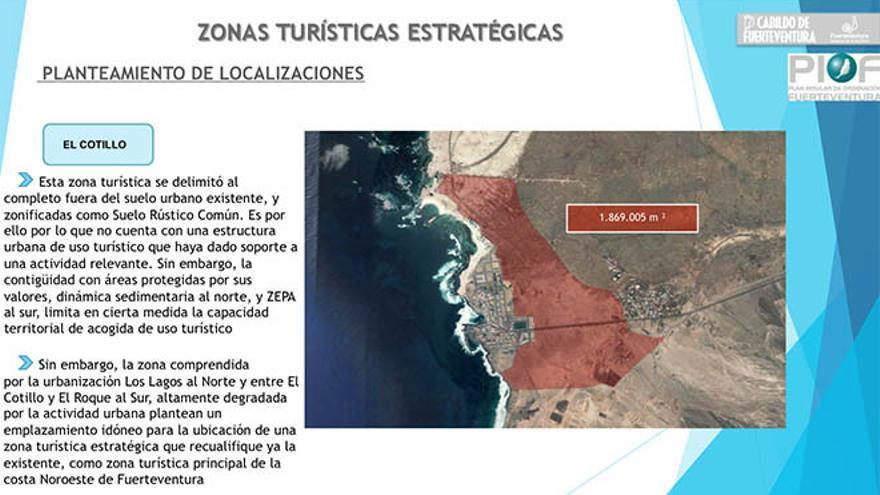 Planteamiento de localizaciones para las urbanizaciones en El Cotillo