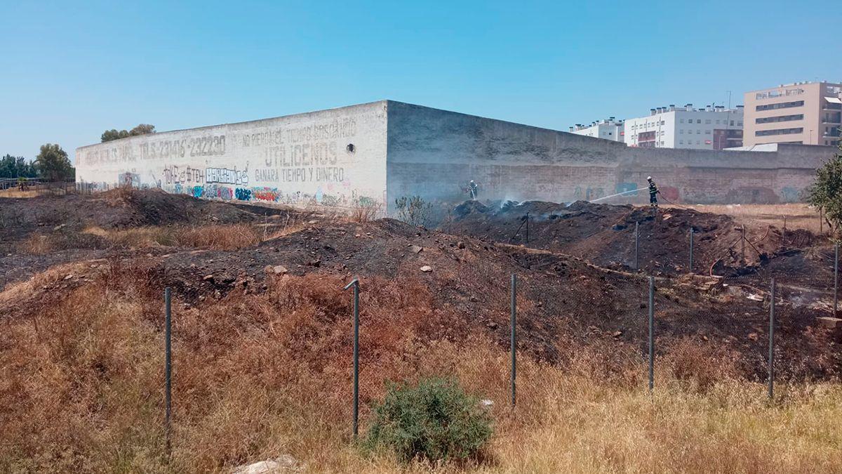 Los bomberos han sofocado el incendio de pastos junto a El Fontanar.