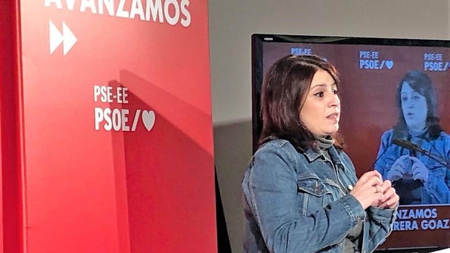 Lastra muestra el compromiso del PSOE con el cumplimiento el Estatuto de Gernika y el calendario de transferencias