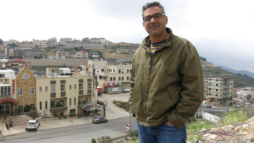 Wahib Rashid Halabi, druso sirio y profesor residente en Majdal Shams, la principal ciudad siria de los Altos del Golán