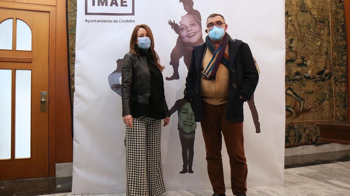 La concejala de Cultura, Marián Aguilar y el gerente del IMAE, Juan Carlos Limia